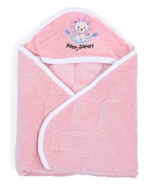 Babyoye Velore Hooded Wrapper - Pink