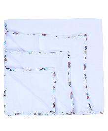 My Milestones Muslin Swaddle Blankets Pack Of 2 - Blue