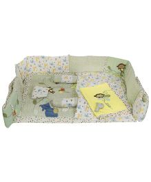 M&M Baby Bedding Set White & Yellow - Set Of 8