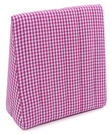 Babyoye Check Wedge Pillow - Pink