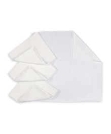 Baby Pure Muslin Square Nappy Pack Of 12 - White
