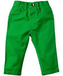 Babyoye Full Length Solid Color Trouser - Green