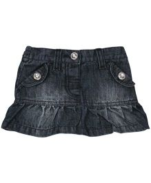 Baby Pure Skirt With Frill - Denim Blue