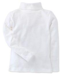 Carter's Full Sleeves Turtle Neck Plain T-Shirt - White