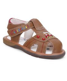 Cubs & Chicks Sandals Train Design - Brown