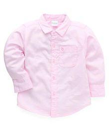 Babyhug Full Sleeves Solid Color Shirt - Pink