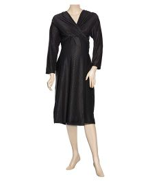 Uzazi Long Sleeves Maternity Evening Wear Dress - Black