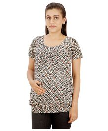 Uzazi Stylish and comfortable top for expecting moms Grey XL(110 cms) 100% Cotton