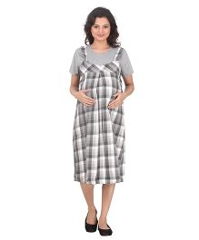 Uzazi Maternity Dress With T-Shirt - Grey