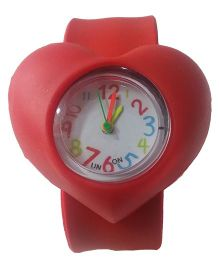 Aakriti Creations Cute Heart Shaped Watch - Red