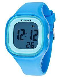 Aakriti Creations Digital Watch With Night Light & Alarm - Blue