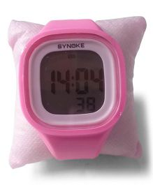 Aakriti Creations Digital Watch With Night Light & Alarm - Pink