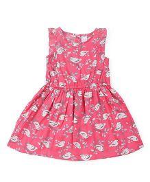 Carter's Sleeveless Dress Bird Print - Pink