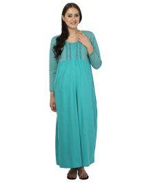 Kriti Comfort Knit Nighty - Aqua Blue