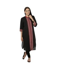 Nursing Kurta - Black & Red