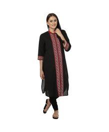 Kriti Ethnic Maternity Kurta - Black & Red