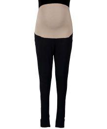 Kriti Ethnic Maternity Full Length Solid Colour Leggings - Black