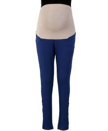 Kriti Ethnic Maternity Full Length Solid Colour Leggings - Navy Blue