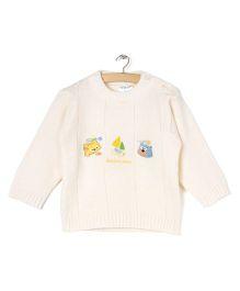 Zonko Style Knitted Sweater - Cream