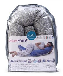 Nuvita Dream Wizard 10 In 1 Pregnancy And Breastfeeding Pillow Flowers - Grey