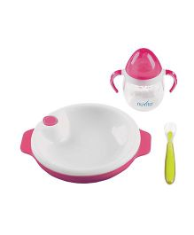 Nuvita Weaning Set Pink - 3 Pieces