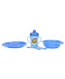 Nuvita Weaning Set Lion Design Blue - 5 Pieces
