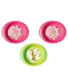 Nuvita Set 3 Bowls - Pink Green