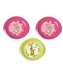 Nuvita Set 3 Dishes - Pink Green