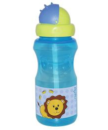 Nuvita Drinking Bottle With Straw Blue - 350 ml
