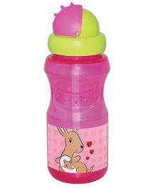 Nuvita Drinking Bottle With Straw - Pink