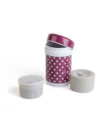 Nuvita Stainless Steel Thermal Food Container Purple - 750 ml