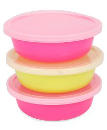 Nuvita 3 Storage Containers - Pink & Green
