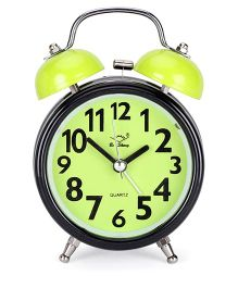Round Shape Alarm Clock - Green Black