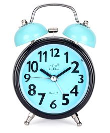 Round Shape Alarm Clock - Aqua Black