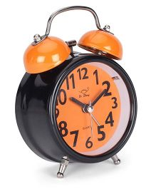Round Shape Alarm Clock - Orange Black