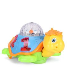 Playmate Baby Plaything Projection Turtle - Blue Orange