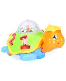 Playmate Baby Plaything Projection Turtle - Green Orange