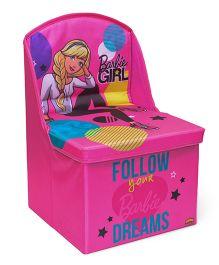 Barbie Chair Cum Storage Box - Pink