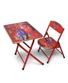 Ramson Disney Cars Table And chair- Red