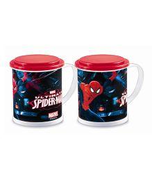 Ramson Spiderman 3D Mug With Lid Multicolor - 600 ml