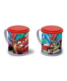 Ramson Disney Cars 3D Mug With Lid Multicolor - 600 ml