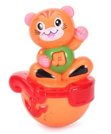 Playmate Puzzle Cat Roly Poly Toy - Orange Red