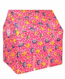 Lovely Play Tent House Star Bird Print - Pink