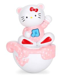 Playmate Puzzle Cat Roly Poly Toy - Pink White
