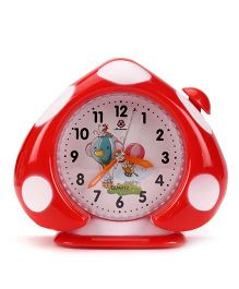 Alarm Clock With Polka Dot Print - Red White