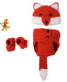 Mayra Knits Fox Photo Prop Set - Red