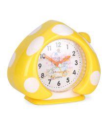 Alarm Clock With Polka Dot Print - Yellow White