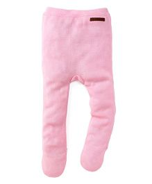 Yellow Apple Thermal Footed Leggings - Pink