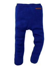 Yellow Apple Thermal Footed Leggings - Blue