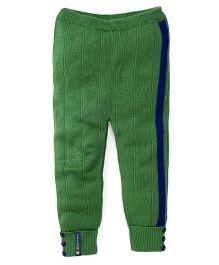 Yellow Apple  Full Length Thermal Fleece Bottoms - Green